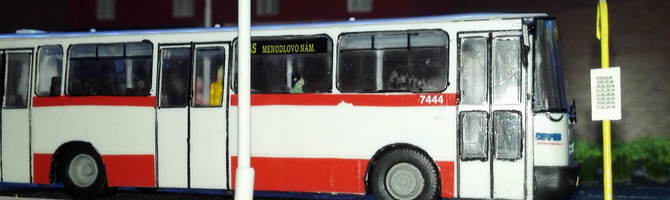 Model of bus KAROSA B-931 DPMB Brno in H0